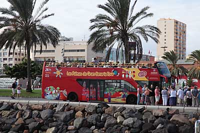 Touristenbus in Las Palmas