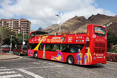 Sightseeing-Bus in Santa Cruz